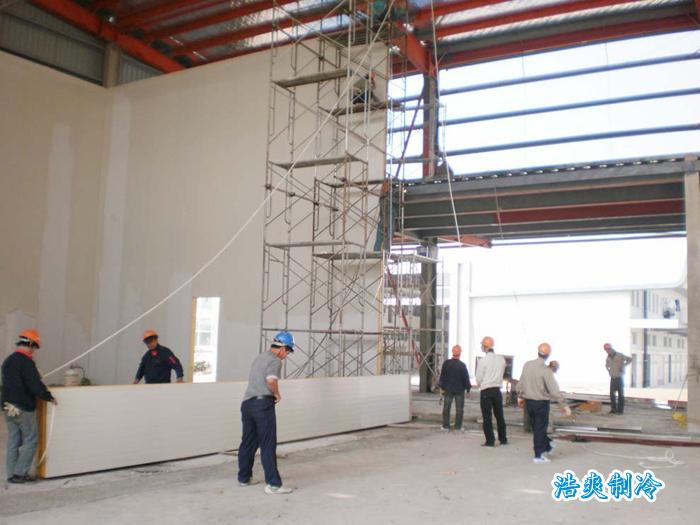 冷库建造的流程,机房,库房以及制冰间等建筑物的一次